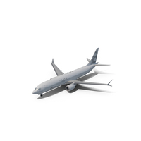 Boeing 737-8 MAX Generic White PNG & PSD Images