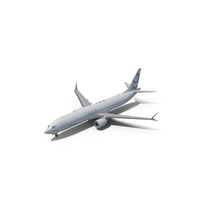 Boeing 737-9 MAX Generic White PNG & PSD Images