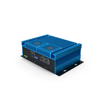 Industrial Mini PC Blue PNG & PSD Images