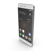 Huawei P9 Mystic Silver with SD/SIM Card Tray PNG & PSD Images