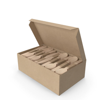 Wooden Cutlery Set in a Box PNG & PSD Images