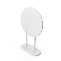 White Round Floor Standing Sign PNG & PSD Images