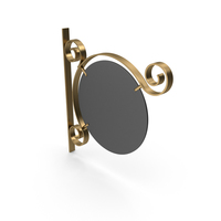 Gold Metal and Black Frame Signboard PNG & PSD Images