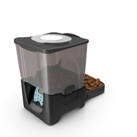 Automatic Pet Feeder Dry Food Dispenser PNG & PSD Images