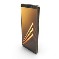 Samsung Galaxy A8 2018 Gold PNG & PSD Images
