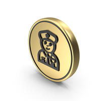Police Officer Coin Logo Icon PNG & PSD Images