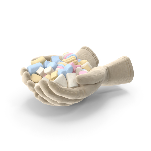 Gloves with Mixed Marshmallows PNG & PSD Images