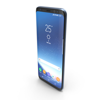 Samsung Galaxy S8 Coral Blue PNG & PSD Images