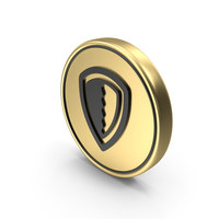 Shield Support Coin Logo Icon PNG & PSD Images