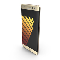 Samsung Galaxy Note 7 Gold Platinum with SIM/SD Card Tray & ... PNG & PSD Images
