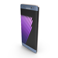 Samsung Galaxy Note 7 Blue Coral with SIM/SD Card Tray & S Pen PNG & PSD Images