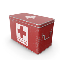 Medicine Box Red Scratched PNG & PSD Images