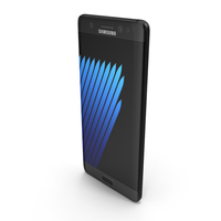 Samsung Galaxy Note 7 Black Onyx with SIM/SD Card Tray & S Pen PNG & PSD Images
