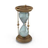 Classic Elegant Hourglass with White Sand PNG & PSD Images