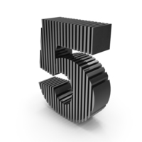 Cut Numbers Five PNG & PSD Images