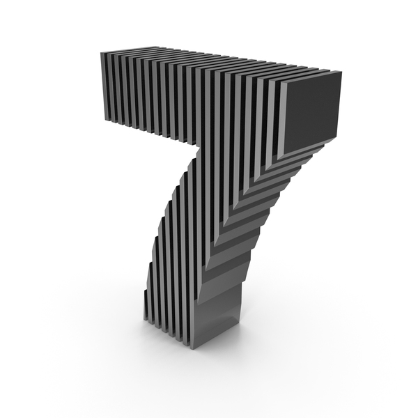 Cut  Numbers Seven PNG & PSD Images
