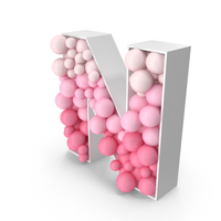 Sphere Letter N PNG & PSD Images