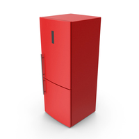 Refrigerator Red PNG & PSD Images