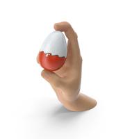 Hand Holding a Kinder Surprise Egg PNG & PSD Images