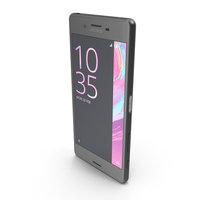 Sony Xperia X Performance Graphite Black PNG & PSD Images