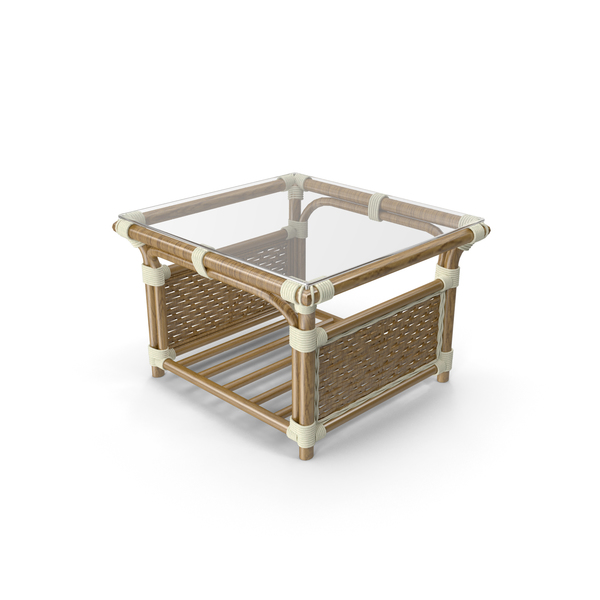 Albany Rattan Coffee Table PNG & PSD Images