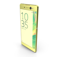 Sony Xperia XA Ultra Lime Gold PNG & PSD Images