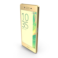 Sony Xperia X Lime Gold PNG & PSD Images