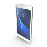 Samsung Galaxy Tab A 7.0 2016 White PNG & PSD Images