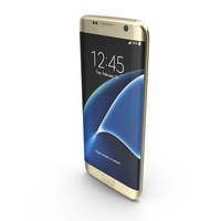 Samsung Galaxy S7 Edge Gold Platinum with SD/SIM Card Tray PNG & PSD Images