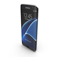 Samsung Galaxy S7 Edge Black Onyx with SD/SIM Card Tray PNG & PSD Images