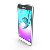 Samsung Galaxy J3 White PNG & PSD Images