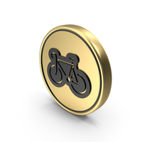 Bicycle Sport Coin Logo Icon PNG & PSD Images