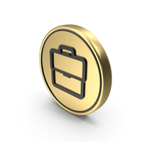 Briefcase Coin Logo Icon PNG & PSD Images