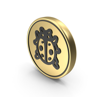 Lady Beetle Coin Logo Icon PNG & PSD Images