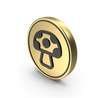 Mushroom Coin Logo Icon PNG & PSD Images