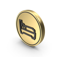 Sleeping Accommodation Coin Logo Icon PNG & PSD Images