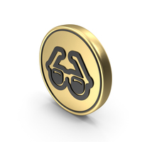 Spectacles Goggles Coin Logo Icon PNG & PSD Images