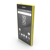 Sony Xperia Z5 Compact Yellow PNG & PSD Images