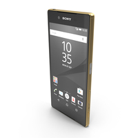 Sony Xperia Z5 Gold PNG & PSD Images