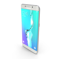 Samsung Galaxy S6 Edge+ White Pearl PNG & PSD Images