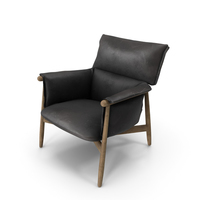 Lounge Chair Black Damaged PNG & PSD Images