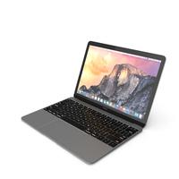 Apple MacBook 2015 Grey PNG & PSD Images