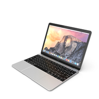 Apple MacBook 2015 Silver PNG & PSD Images
