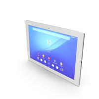 Sony Xperia Z4 Tablet White PNG & PSD Images
