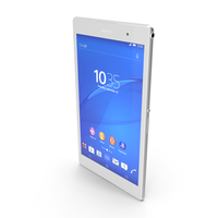 Sony Xperia Z3 Tablet Compact White PNG & PSD Images