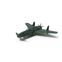 Vintage Canard Propeller Airplane in Flight Pose PNG & PSD Images