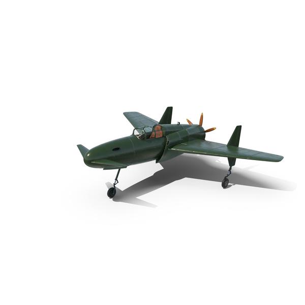 Vintage Canard Propeller Airplane Landed PNG & PSD Images