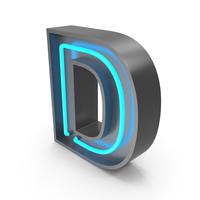 Neon Letter D PNG & PSD Images