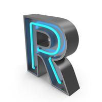 Neon Letter R PNG & PSD Images