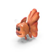 Cartoon Golden Fish PNG & PSD Images